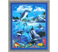 Dolphins at Play Chart - 08-2367 - chart only