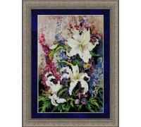 Lilies and Delphiniums Chart - 07-1129 - chart only