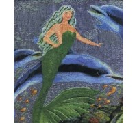 Mermaid Swimming With Dolphin Chart - 01-1431 - Chart Only