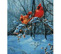 Snow Fire Cardinals Chart or Kit