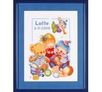 Toys Birth Sampler