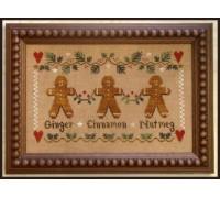 Gingerbread Trio Chart - 08-2327