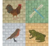 Four Canvas Embroidery Pictures - cc-sc-4pic