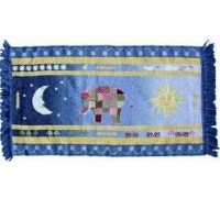 Sun and Moon Canvas Work Rug