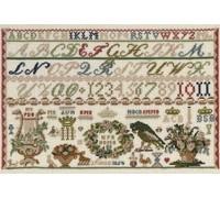1854 Celle Museum Soroe Reproduction Sampler