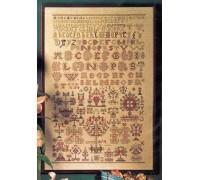 1854 Reproduction Sampler - 39-4454 - 28ct