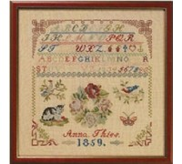 1859 Anna Theis Reproduction Sampler - 39-5301 - 32ct