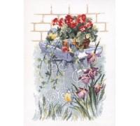 Bird Table with Irises