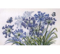 Blue Butterflies and Flowers - 70-6535 - 26ct