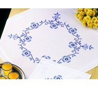 Blue Floral Tablecloth - 27-5758