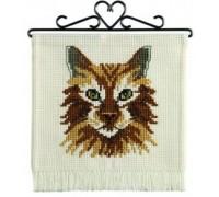 Brown Cat Hanging - 12-2374 - 8ct