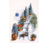 Cat on the Garden Steps - 70-4375 - 14ct