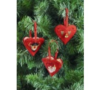 Christmas Hearts Tree Decorations - 01-5236