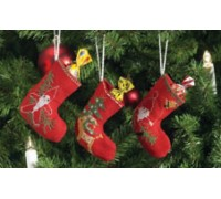 Christmas Stocking Tree Decorations - 01-4214
