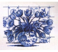 Delft Tulips Vase - 70-6311 - 26ct