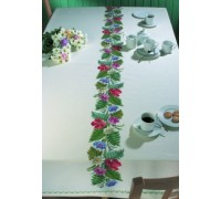 Flowers and Ferns Tablecloth - 58-6500 - 11ct