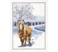 Horse in the Snow - 12-3337 - 14ct