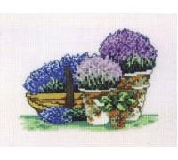 Lilacs and Lavender Pots - 92-6314 - 16ct