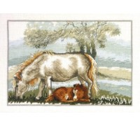 Mare and Her Sleeping Foal - 12-3335 - 14ct
