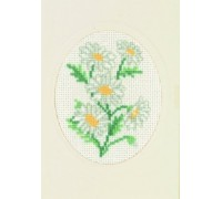 Marguerites Greetings Card - 17-5103 - 18ct