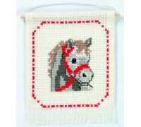 Mini Little Grey Horse Hanging - 13-3392 - 8ct