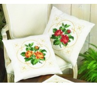Red Rose Posy Cushion Front - 83-6121 - 11ct