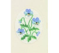 Pansy Greetings Card - 17-5105 - 18ct