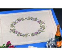 Passion Flower Garland Tablecloth - 27-5721