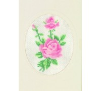 Pink Rose Greetings Card - 17-5102 - 18ct