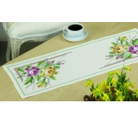 Pink and Yellow Roses Table Runner - 63-6725 - 8ct