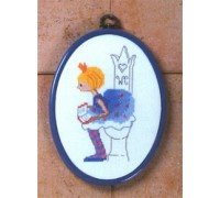 Princess Toilet Plaque - 12-6127 - 14ct