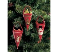 Red Cones Christmas Decorations - 01-2202