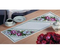 Rose and Lily Spray Table Runner - 63-5724 - 8ct