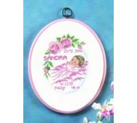 Roses Birth Sampler - 12-6723 - 14ct