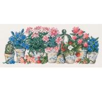 Row of Flowerpots - 12-5185 - 16ct