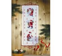Santa Delivering Presents Advent Calendar - 34-6205