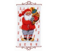 Santa With Gifts Advent Calendar - 34-5210