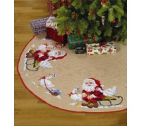 Santa and Geese Tree Skirt - 45-0290