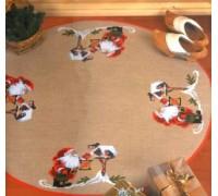 Santa and Robins Tree Skirt - 45-5219