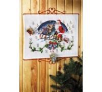Santa and His Sleigh Advent Calendar - 34-2205