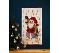 Santa With Lantern Advent Calendar - 34-4215
