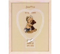 Sepia Heart Birth Sampler - 92-6327 - 14ct