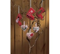 Red Stockings Christmas Tree Decorations - 01-1205