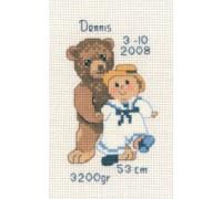 Teddy with Boy Ragdoll - 13-6117 - 14ct