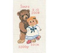 Teddy with Girl Ragdoll - 13-6116 - 14ct
