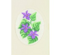 Violets Greetings Card - 17-5106 - 18ct