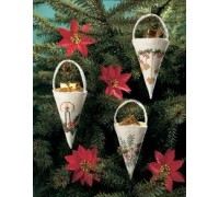White Cones Christmas Decorations - 01-7229