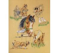 Working Horses Sampler - 90-6160 - 14ct