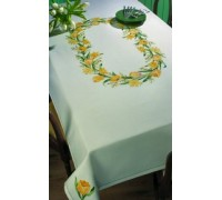 Yellow Tulips Tablecloth - 58-6175 - 11ct