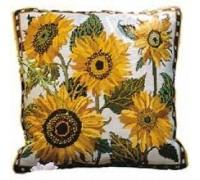 Cream Sunflower Dance - Printed